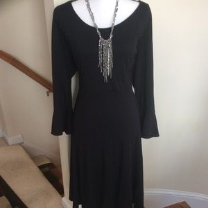ELOQUII Black Dress with Bell sleeves